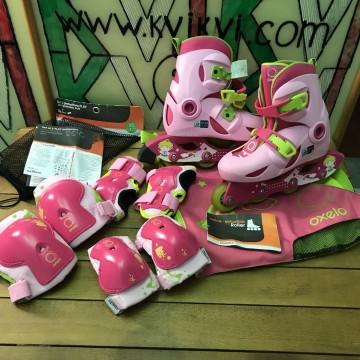 Детский защитный комплект OXELO   розовый