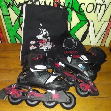 Детские раздвижные роликовые коньки OXELO ILS PLAY 5 black