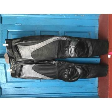 Мотобрюки Genuine Leather кожаные