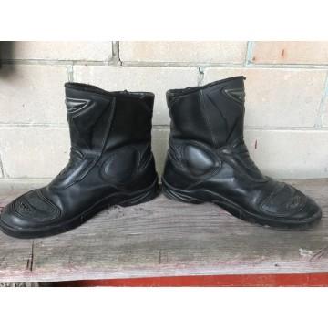 Мотоботинки  кожаные